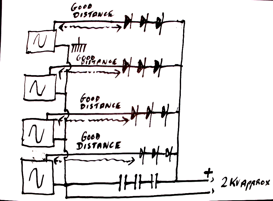 oscillators leading to stacks of diodes