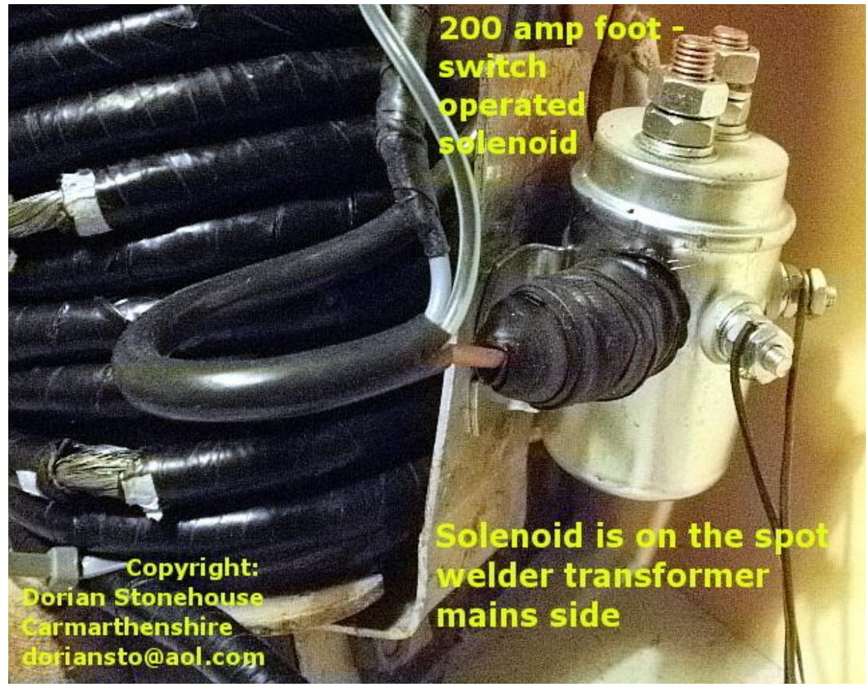 heavy duty solenoid switch, with foot pedal used