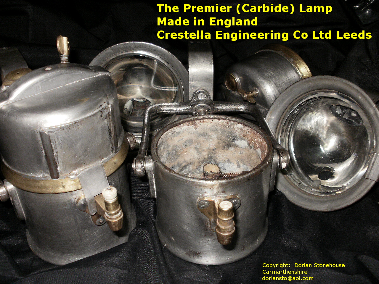 Premier carbide lamp made in england crestella engineering co ltd next job is to clean out the gas jets before filling the bottom tank with calcium carbide aloadofball Choice Image