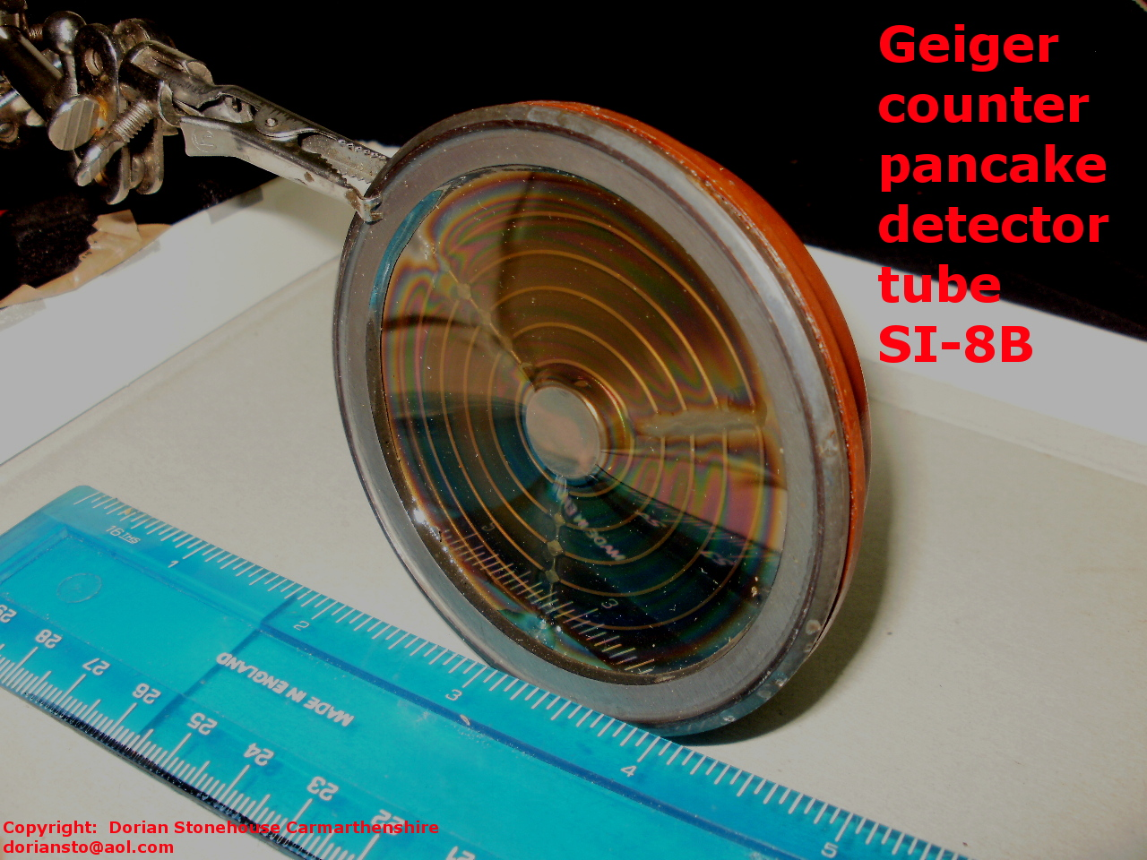 The newer type Geiger detector tube