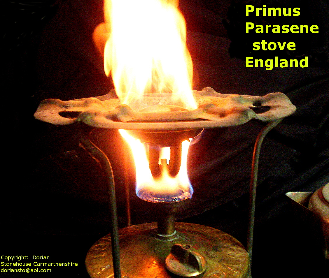 The Primus (Parasene) stove - call the fire brigade!