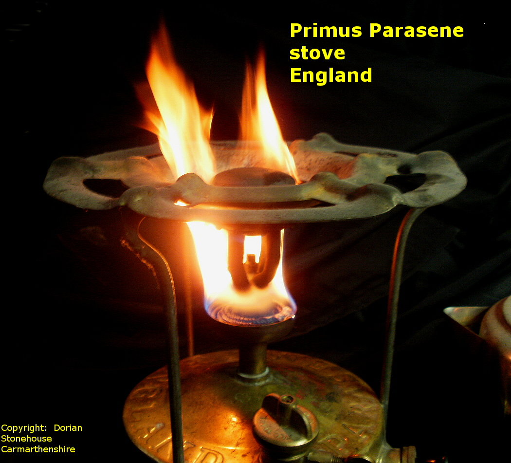 The Primus (Parasene) stove burning fuel fast!