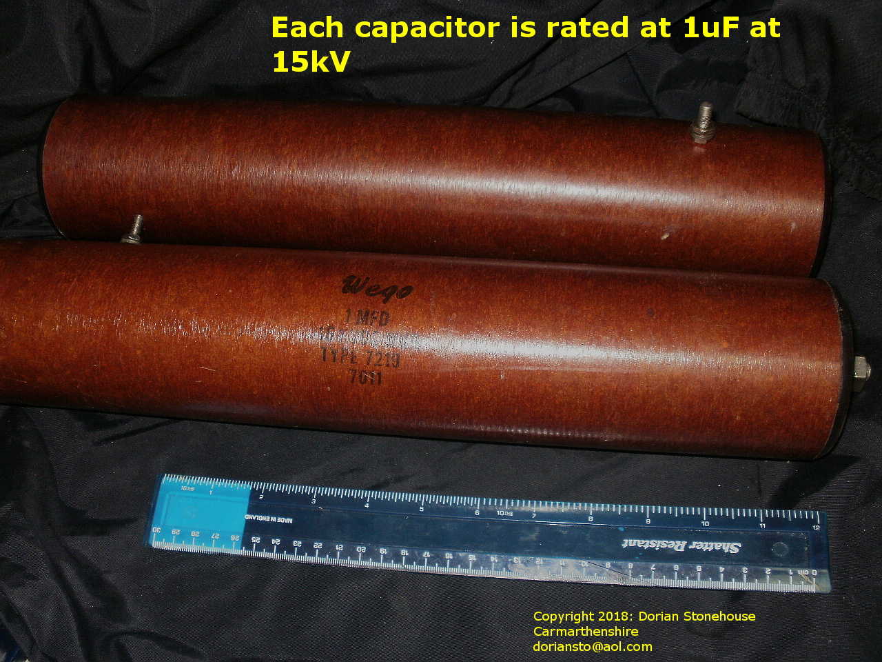 Huge capacitors - over a foot long!