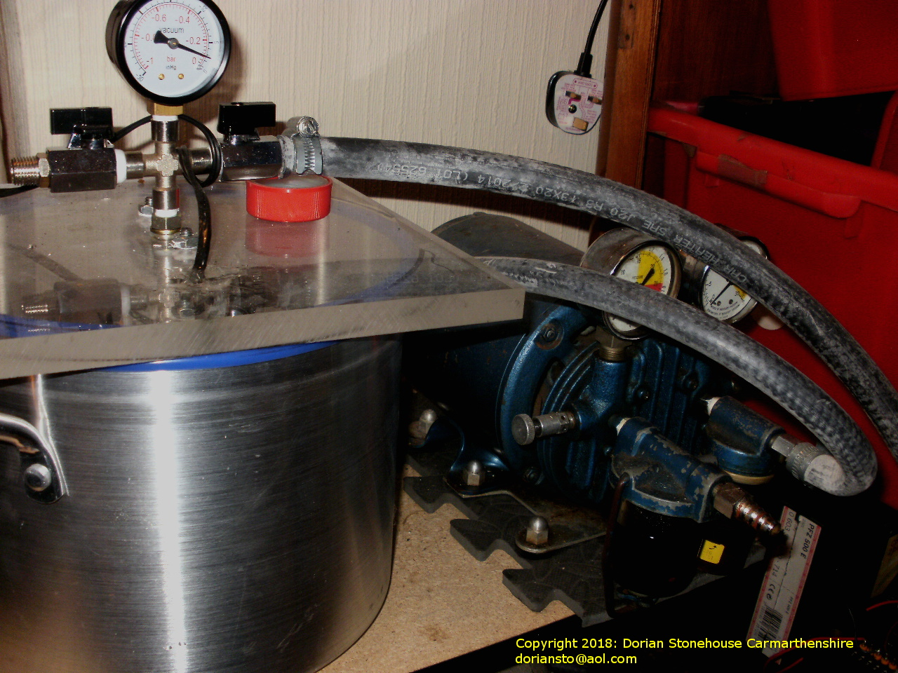 Another view of the vacuum chamber for EMP work