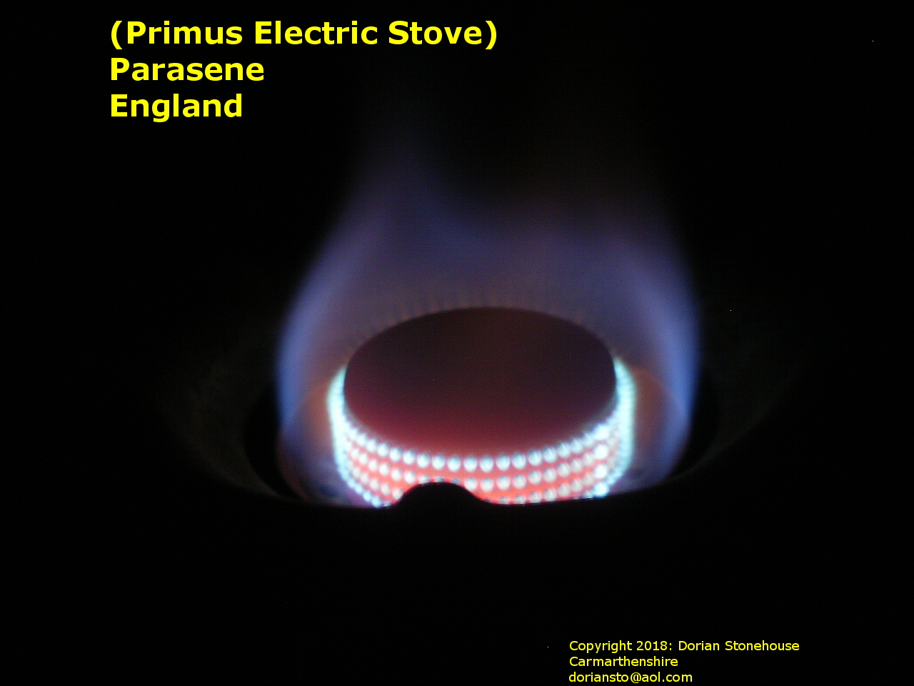 The Primus (Parasene) stove, now alight smoothly