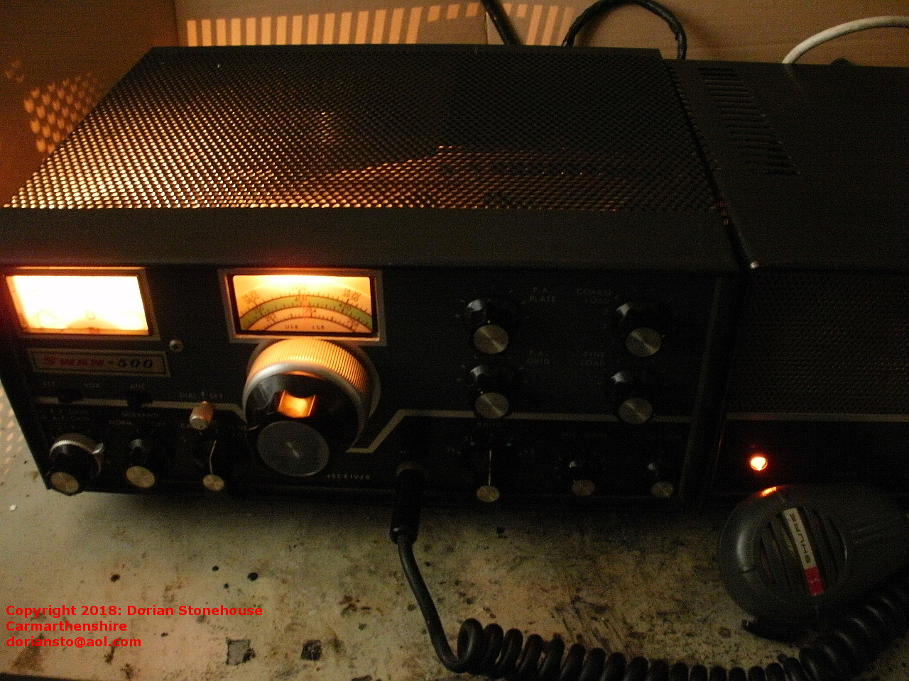 Mic Wiring Swan 500 Electrical Diagrams Astatic D104 Treasure In The Loft Vintage Radio Transceiver Preserved Iphone